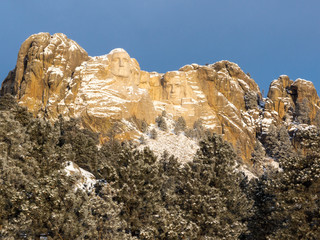 Mount Rushmore in Winter