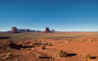 Scenic view at Artist's Point in Monument Valley