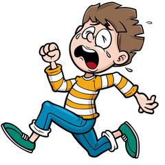 Vector illustration of Boy running