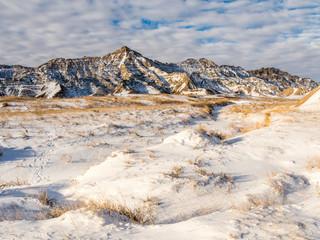 The Badlands in Winter