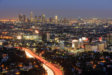 Classical Los Angeles Downtown nightscene