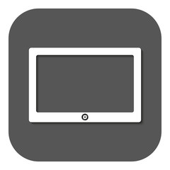 The tablet icon. Tablet symbol.