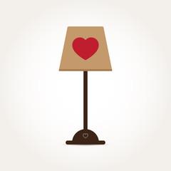 Vector Love Heart Lamp