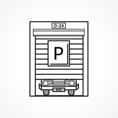 Line icon for parking garage
