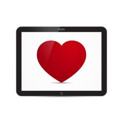 Vector Love Heart Tablet