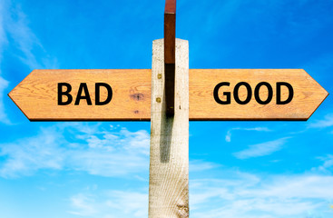 Bad and Good signs, Choice conceptual image