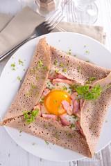 crepe and egg