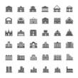 Building icon set - 76087938