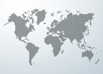 World map of square concept.