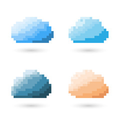 Cloud Pixel Concept.
