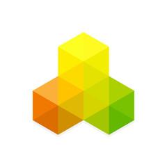 Hexagon abstract banner design