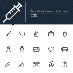 Medical equipment line icon