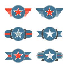 Modern label star design