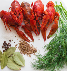 boiled crawfish with spices