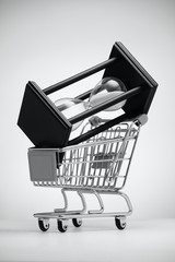 Hourglass in grocery cart