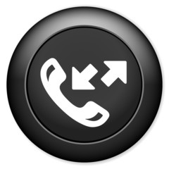 Phone sign icon. Call center