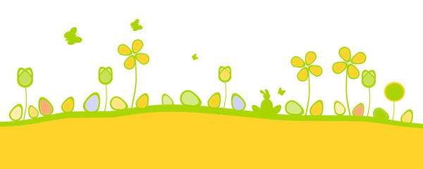 Oster Wiese Banner Grün
