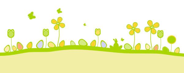 Wiese Blumen Eier Bunt