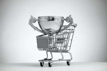 Silver Cup in food cart