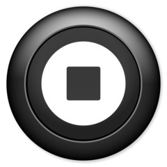Stop sign icon. Media Player navigation button