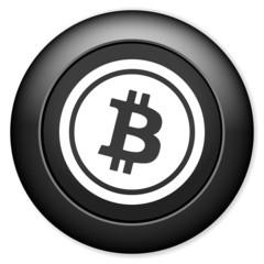 Bitcoin sign icon.