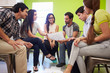canvas print picture - Group Of Hispanic Designers Meeting To Discuss New Ideas
