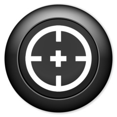 Target aim sign icon.