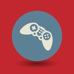 Game controller symbol, vector