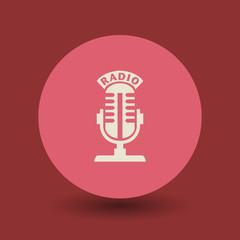 Radio microphone symbol, vector