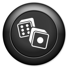 Dices sign icon. Casino game symbol