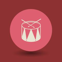 Drum symbol, vector