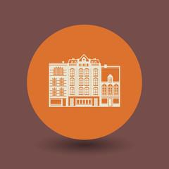 City building symbol, vector