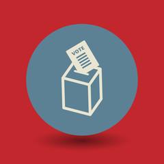 Voting box symbol, vector