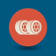 Car wheel symbol, vector