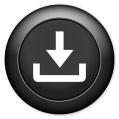 Download icon. Upload button. Load symbol
