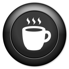 cup sign icon. Hot coffee button.