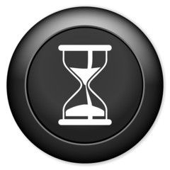 Hourglass icon. Sand timer symbol.
