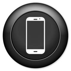 Smartphone icon. Support button. Call center.