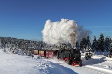 Brockenbahn der Harzer Schmalspurbahnen im Winter