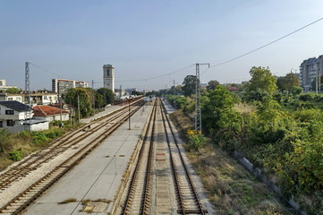 Railway station Ruse - view from above