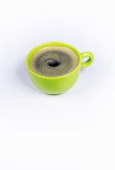 Kaffeetasse, Kaffee, grün, Bio-Kaffee