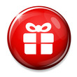 Gift box icon. Present symbol