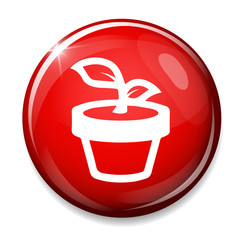 Flower icon. Rose button