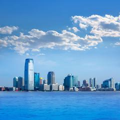 New Jersey skyline from Hudson River USA