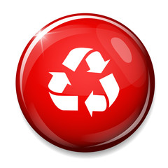 Recycling sign icon. Reuse button, reduce symbol