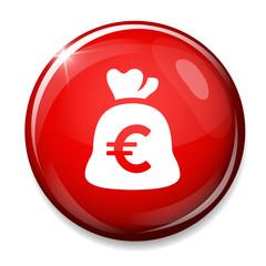 Money bag sign icon. Euro