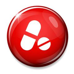 Medical pill icon. Drugs symbol.