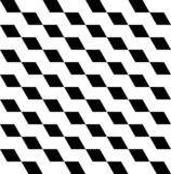 Black and white geometric seamless pattern with trapezoid. poster