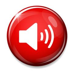 Speaker volume icon. Sound symbol.