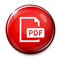 PDF file document icon. Download pdf button